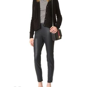 NWT cupcakes and cashmere Faux Leather Leggings